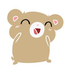 Cartoon kawaii cute hamster vector