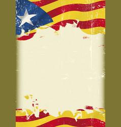 Catalan estelada blava flag grunge background vector