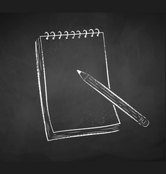 chalked notepad with pencil vector image