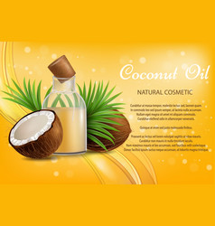 coconut oil natural cosmetic advertising vector image