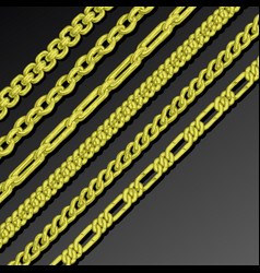collection of chains vector image