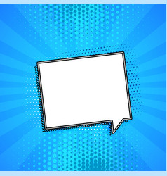 comic chat bubble on blue background with vector image