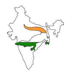 Crocodile India vector image