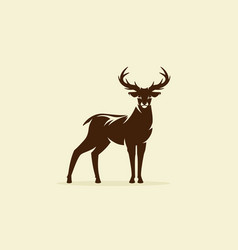 Deer reindeer or stag icon vector