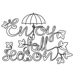 Doodle lettering vector