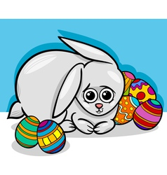 easter bunny cartoon vector image