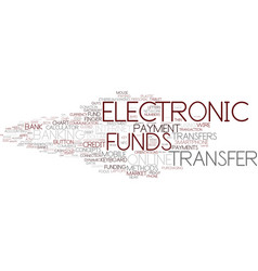 electronic funds word cloud concept vector image