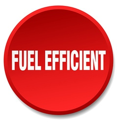 Fuel efficient red round flat isolated push button vector