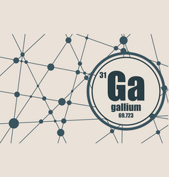 gallium chemical element vector image