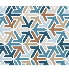 Geometric islamic pattern with arrows color vector