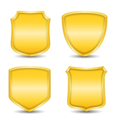 Golden Shields vector image