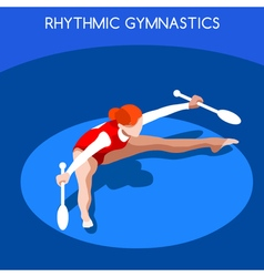 Gymnastics Rhythmic Clubs 2016 Summer Games 3D vector image
