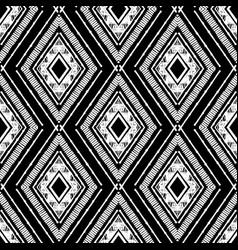 Hand drawn black rhombus pattern vector