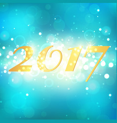 Happy new year 2017 on blue abstract background vector