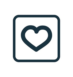 Heart icon Rounded squares button vector