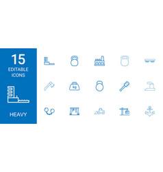 Heavy icons vector