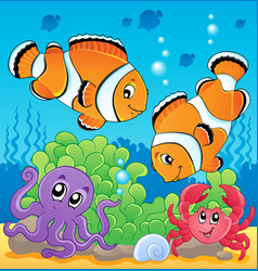 image with undersea theme 4 vector image
