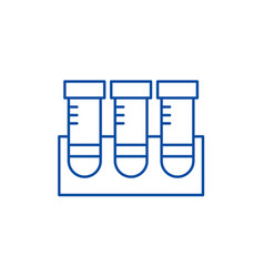 Lab research line icon concept lab research flat vector