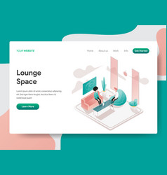landing page template lounge space concept vector image