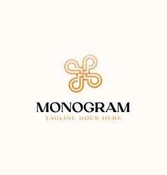 letter p monogram flower gradient color logo vector image