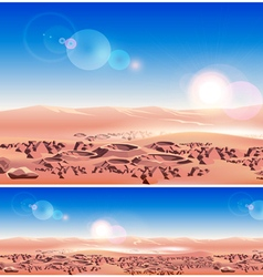 Mars planet surface vector