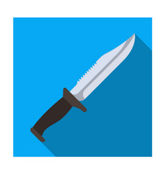 Military knife knife for murder weapons of vector