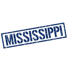 Mississippi blue square stamp vector