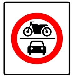 no motor vehicles sign in vector image