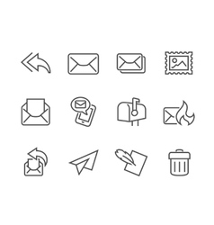 Outline Mail Icons vector