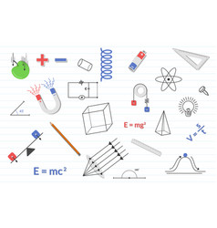 physics education science with various objects vector image