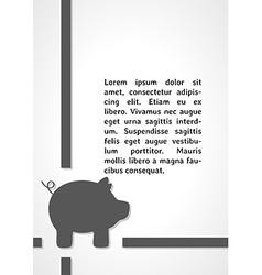 Pig symbol dark infographics vector