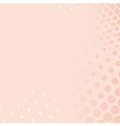 Pink background with dots from small to big vector image