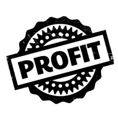 Profit rubber stamp vector