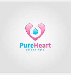 pure heart - lovely romance logo vector image