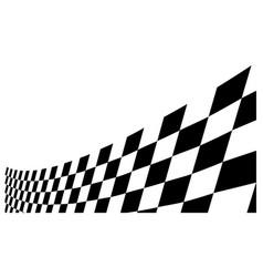 Race flag design background template vector