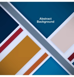 Retro background with colored squares and stripes vector image