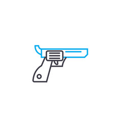 revolver linear icon concept revolver line vector image