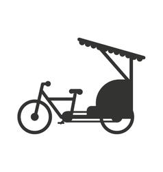 Rickshaw indonesia jakarta taxi travel vector image
