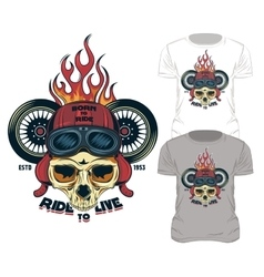 Ride To Live Print vector