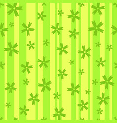 seamless background of flowers on the stripes vector image