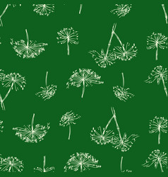 Seamless background sketches inflorescence vector