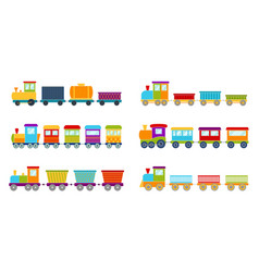 set bright toy train vector image