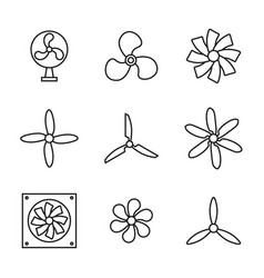 Set icons fans vector