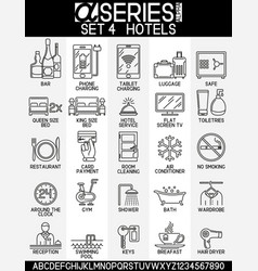 set icons hotels vector image