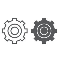 settings line and glyph icon technology and vector image