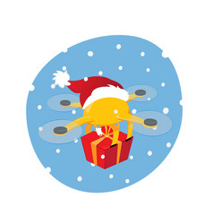 shipping drone delivering on christmas day vector image