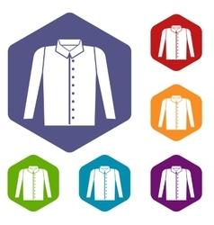 Shirt icons set vector