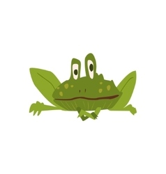 Sitting Toad Flat Cartoon Stylized vector image