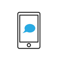 Smartphone icon mobile sms message vector