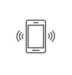 Smartphone or mobile phone ringing icon vector